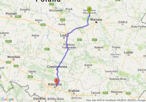 Trasa Nowy Dwór Mazowiecki - Sosnowiec
