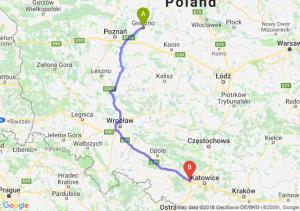Trasa Gniezno - Gliwice