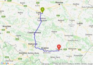 Trasa Brzeziny - Tarnów