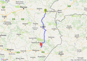 Międzyrzec Podlaski (lubelskie) - Leżajsk (podkarpackie)