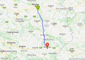 Trasa Góra Kalwaria - Rzeszów