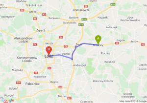 Trasa Brzeziny - Łódź