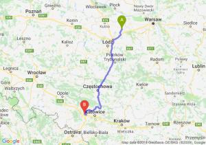 Trasa Łowicz - Gliwice