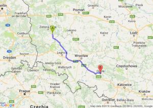 Trasa Nowa Sól - Opole
