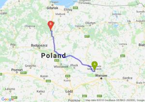 Trasa Nowy Dwór Mazowiecki - Warlubie