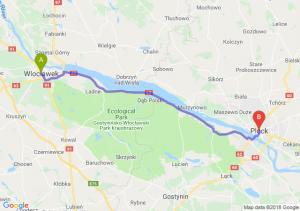 Trasa Włocławek - Płock