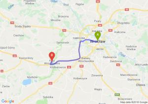 Trasa Wrocław - Kąty Wrocławskie