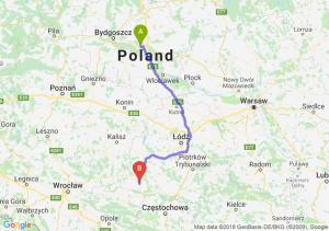 Trasa Toruń - Wieluń