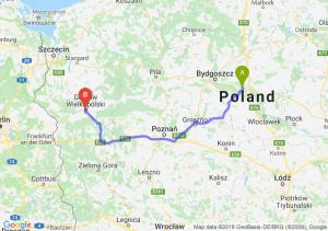 Trasa Toruń - Gorzów Wielkopolski