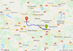 Trasa Katowice - Zabrze