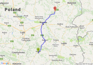 Trasa Kielce - Ostrów Mazowiecka