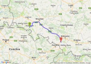 Trasa Wałbrzych - Żory
