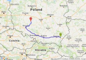 Trasa Jarosław - Ostrów Wielkopolski