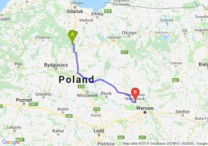 Trasa Warlubie - Nowy Dwór Mazowiecki