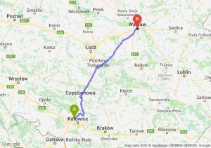 Trasa Bytom - Warszawa