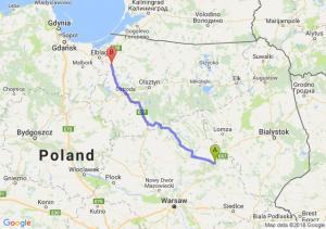 Trasa Ostrów Mazowiecka - Pasłęk
