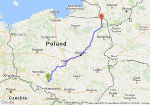 Trasa Opole - Suwałki