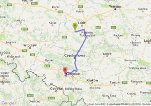 Trasa Łask - Gliwice