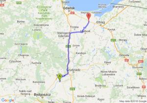 Trasa Chełmno - Nowy Dwór Gdański