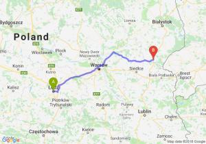 Trasa Łódź - Siemiatycze