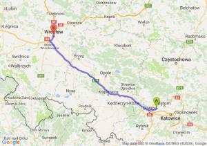 Trasa Zabrze - Wrocław