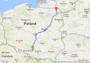 Trasa Sosnowiec - Raczki