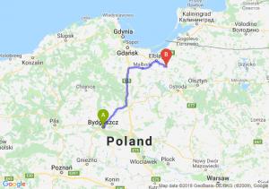 Trasa Bydgoszcz - Pasłęk