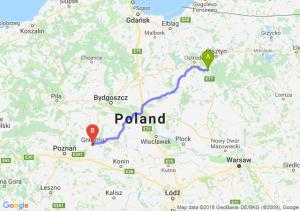 Trasa Olsztynek - Gniezno