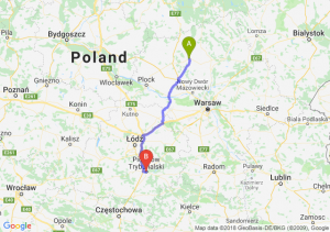 Trasa Ciechanów - Piotrków Trybunalski