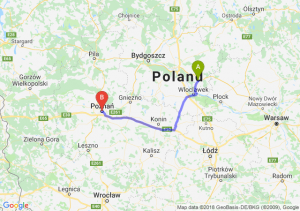 Trasa Lipno - Poznań