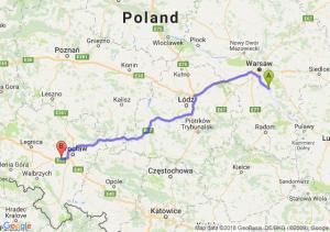 Trasa Góra Kalwaria - Kąty Wrocławskie