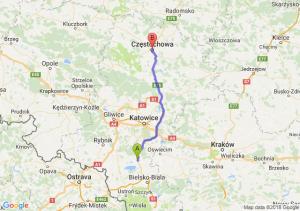 Trasa Pszczyna - Częstochowa
