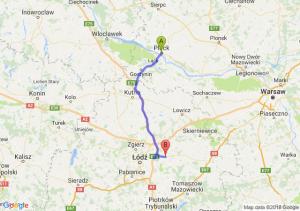 Trasa Płock - Brzeziny