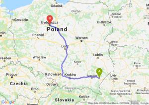 Trasa Jarosław - Bydgoszcz