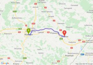 Trasa Rzeszów - Jarosław
