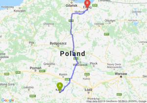 Trasa Kalisz - Elbląg