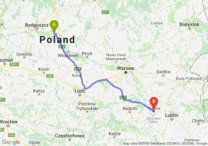 Trasa Toruń - Puławy