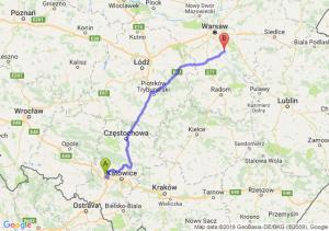 Trasa Gliwice - Góra Kalwaria