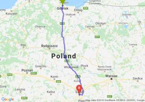 Trasa Gdańsk - Łódź