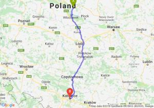 Trasa Lipno - Katowice