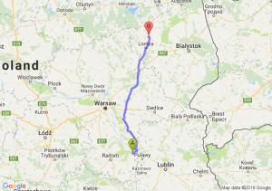 Trasa Bąkowiec - Stawiski