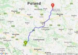 Trasa Dąbrówka Górna - Płońsk