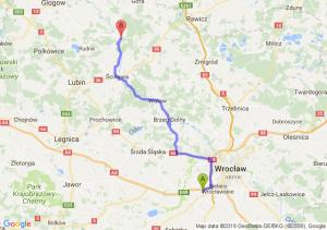 Trasa Biskupice Podgórne - Chobienia