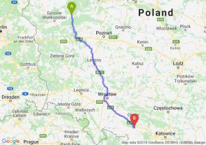 Trasa Drezdenko - Krapkowice