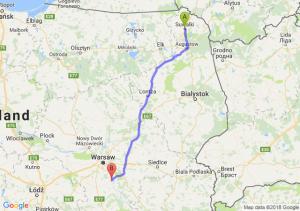 Trasa Suwałki - Góra Kalwaria