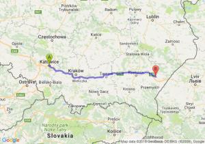 Trasa Katowice - Jarosław