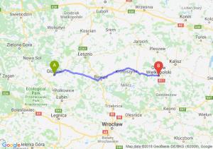Trasa Głogów - Ostrów Wielkopolski
