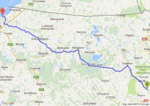 Knyszyn (podlaskie) - Tolkmicko (warmińsko-mazurskie)