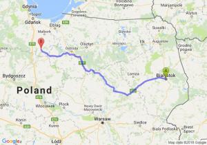 Trasa Białystok - Kwidzyn