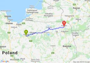 Trasa Ostróda - Suwałki